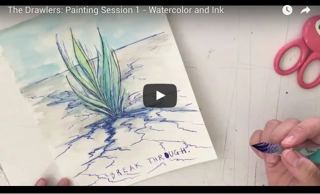 Painting Session 1: Watercolor & Ink